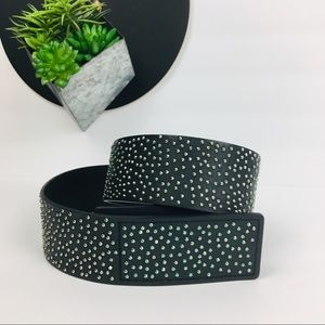 Express micro stud 2 inch leather belt size M